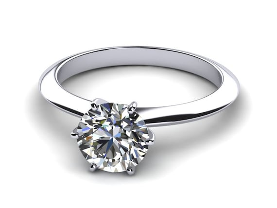 1 carat engagement ring 6 prong by gopalsjewelry