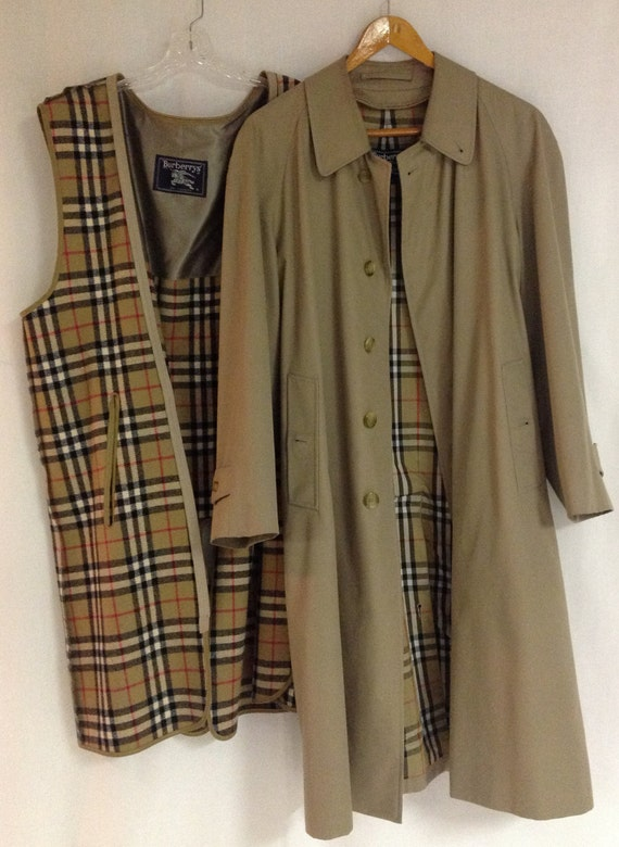 vintage burberry trench coat men u0026 39 s jacket with removable