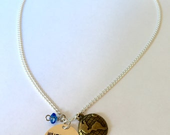 """Hillsong """"Oceans"""" Inspired Hand-Stamped Necklace - """"Wherever you would call me"""""""