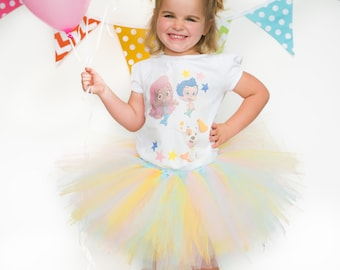 bubble guppies, bubble guppies tutu, bubble guppies party, birthday outfit, bubble guppies shirt, bubble guppy, birthday tutu, tutu set