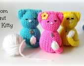 Loom Knitting PATTERNS Tiny Kitty Cat Amigurumi Toys - Includes Video Tutorial by Loomahat