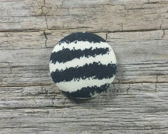 Zebra print fabric covered buttons (size 60, 40, 32)