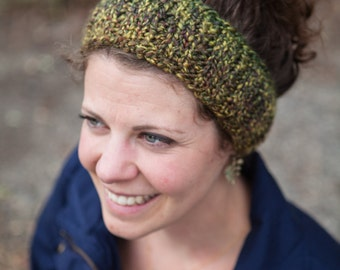 Green Knit Earwarmer