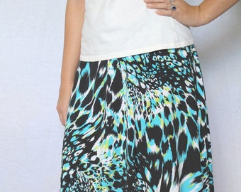 Women's Knit Skirt, Flared Skirt, Short Skirt