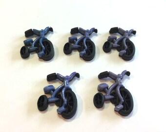 Toy Embellishments Tricycle Bike Jesse James Buttons Boyz Toyz Dress It Up Buttons Set of 5 Scrapbook Flat Back - 102