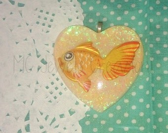 Pendant/resin Cabochons goldfish kawaii 2