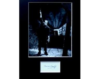 BORIS KARLOFF AUTOGRAPH photo display Frankenstein Horror