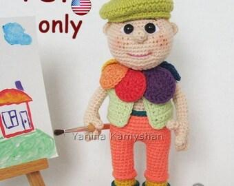 Lovely Painter, amigurumi crochet pattern