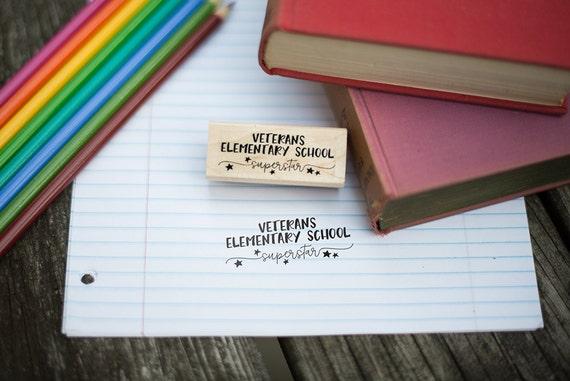 Customizable School Superstar Stamp - Teacher Gift - School Administrator Gift - T6