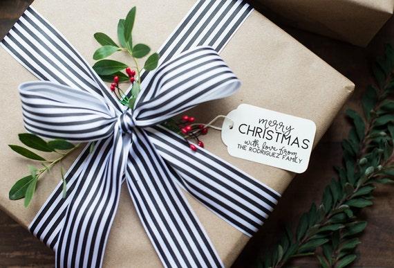 Custom Merry Christmas Stamp, Custom Christmas Tag Stamp, Christmas Gift Tag Stamp, Custom Gift Tag Stamp, Merry Christmas Gift Tags - CH5