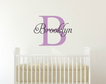 Personalized Name Decal Girl Name Wall Decal Girl Nursery Decal Baby Name Decal Nursery Name Decal Childrens Wall Decal Bedroom Name Decal