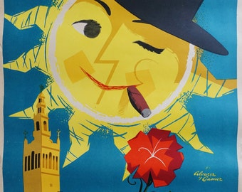 1965 Feria de Sevilla - Travel Poster España - Original Vintage Poster