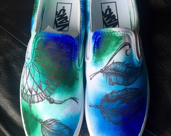 Watercolor Dreamcatcher Shoes