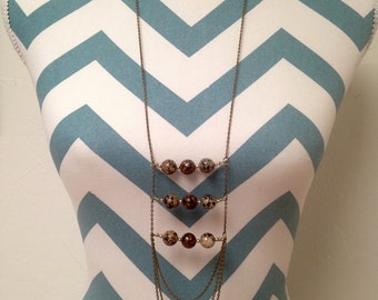Antique Brass African Inspired Statement Necklace