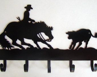 Cutting Horse Key Hook Wall Key Holder Jewelry Belt Scarf Steel