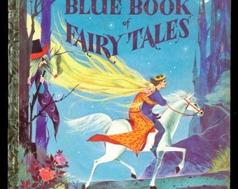 "1959 ""Blue Book of Fairy Tales"" A First Edition Little Golden Book"