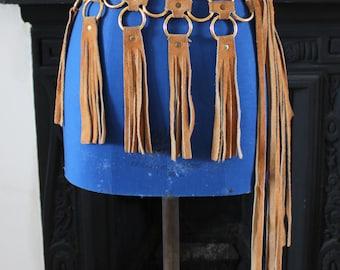 1960's Suede Hippy Fringe Tassel Belt