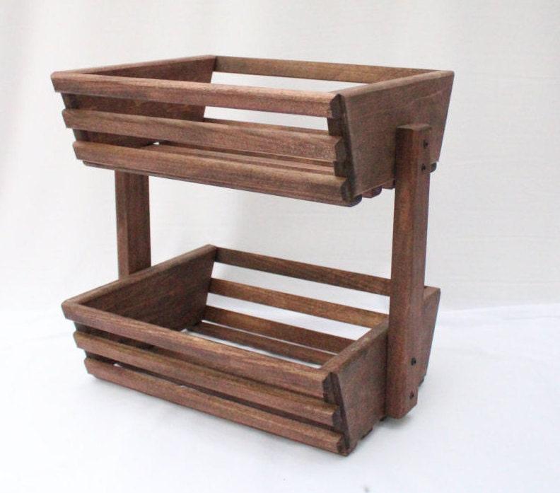 Storage Basket, Tiered Basket, Wooden Basket, Vegetable Basket, Vegetable  Storage, Fruit