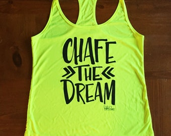Chafe The Dream Athletic Dry Wick Neon Yellow Tank Top Singlet