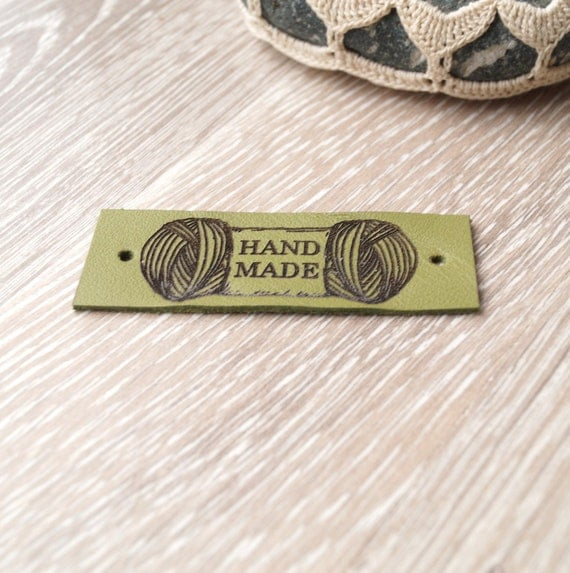 Knitting Labels Custom : Leather knitting labels custom clothing