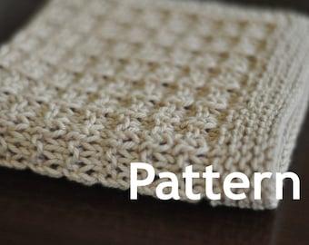 Washcloth / Dishcloth Knitting PATTERN - Spa Day