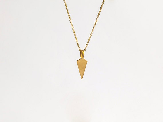 Mens 22k gold unique necklace gold arrowhead pendant like this item aloadofball Image collections