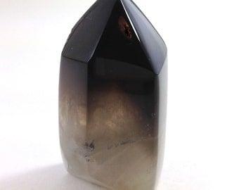 Smoky quartz crystal, polished smoky quartz specimen