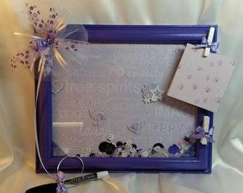 Handmade Purple Dry Erase Board