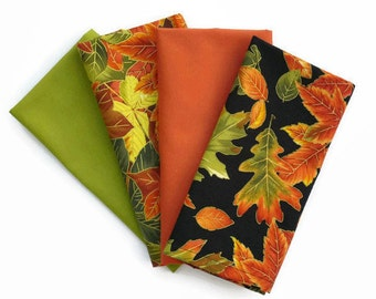 Thanksgiving Cloth Napkins, Fall Cloth Napkins, Fall Leaves Cloth Napkins, Fall Colors Table Linens, Pretty Fall Table Decor