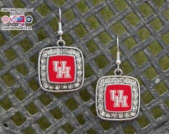Houston Cougars Square Earrings