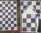 SQUARE Bridesmaid Dress Baby Quilt - Gift for the Expecting Bride - Gender Neutral - Quilt made from bridesmaid dress - Baby Shower Gift