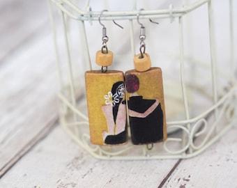 Wedding Shower Jewelry, Wedding Couple Jewelry, Bridal Shower Earrings, Bride Groom Earrings, Cute Bridal Shower Gifts
