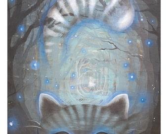 The Cheshire Cat print