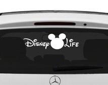 Vinyl Disney Life Car Decal, Disney Life Sticker, Car Decal, Disney Car Decals