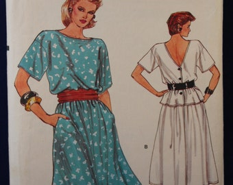 1980's Sewing Pattern for a Woman's Top & Skirt in Size 8-10-12 - Vogue 8905