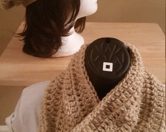 DivaDeluxe Slouchy Beanie and Cowl Set (Wheat/Pink & Green/Autumn Multi)
