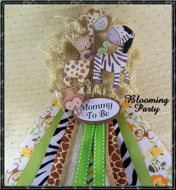 Safari Baby Shower Corsage