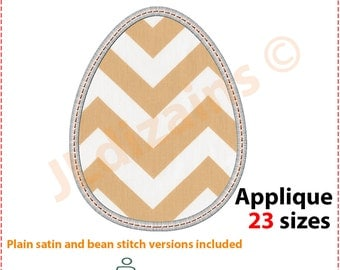 Easter egg applique design. Machine embroidery design - INSTANT DOWNLOAD - 23 sizes. Egg embroidery design. Easter applique design