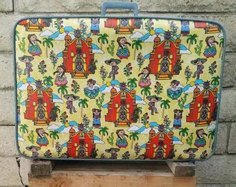 Revamped 1960s Featherlite Luggage- Ballet Folklorico Dancers