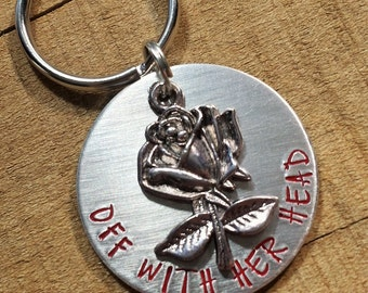 Alice in Wonderland - Alice in Wonderland Keychain - Queen of Hearts - Off With Her Head - The Red Queen - Alice in Wonderland Keyring