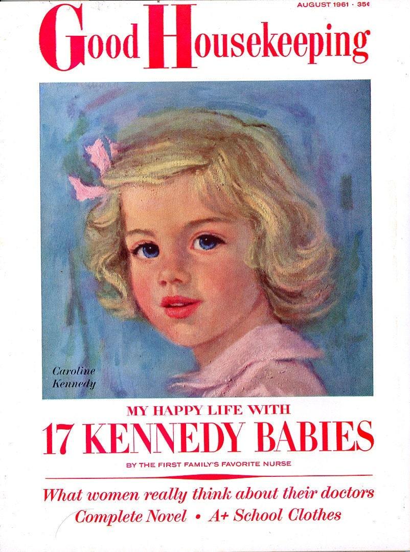3 1 2 Year Old Caroline Kennedy Cover Good Housekeeping
