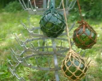 Float glass of fisherman, old fishing buoys, buoy of glass