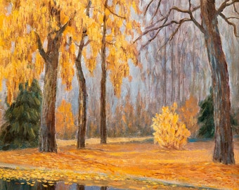 Fall Landscape by Mikhail Germashev, in various sizes, Canvas Giclee Print