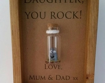 Gifts for daughter, Daughter gift, Daughter birthday, Custom daughter gift, You Rock. Add names or your own message.