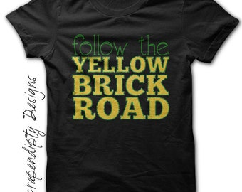 The Wonderful Wizard of Oz Shirt - Follow the Yellow Brick Road Shirt / Girls Oz Shirt / Wizard of Oz Birthday Party / Wedding Shower Outfit
