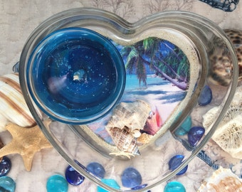 Gel Candle, Ocean & Shells with Tropical Beach picture