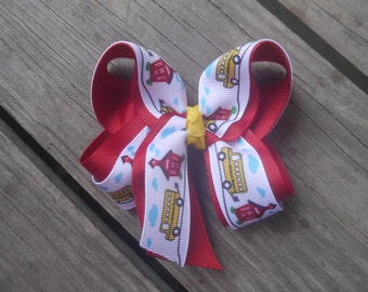 Back to School Boutique Bow; School Bus Bow; School House Bow