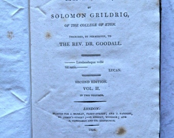 The Miniature by Solomon Grildrig Eton College Periodical 1806