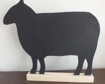 A Hand Made and Hand Painted Sheep / Ewe / Lamb Chalkboard /Blackboard