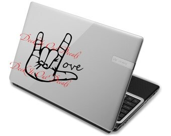 Sign Language Love   Vinyl Wall Decal....EDE00002